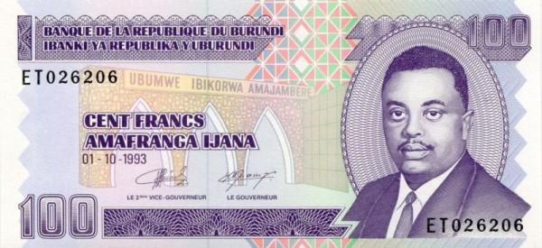 1.10.93 - (Sie sehen ein Musterbild, nicht die angebotene Banknote)