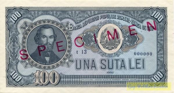 1952, Specimen - (Sie sehen ein Musterbild, nicht die angebotene Banknote)