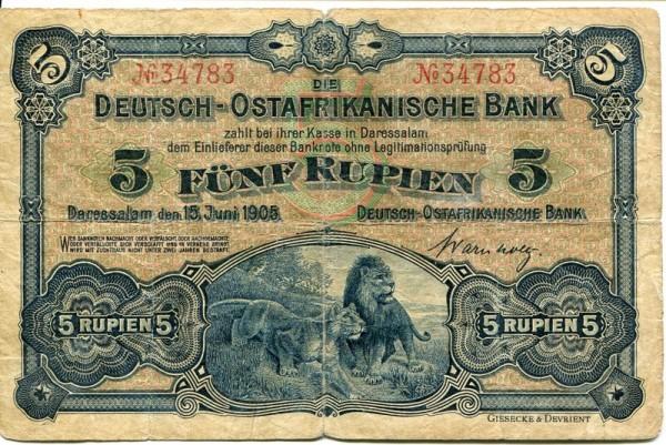 15.6.1905 - (Sie sehen ein Musterbild, nicht die angebotene Banknote)