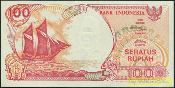 1992/1992 - (Sie sehen ein Musterbild, nicht die angebotene Banknote)
