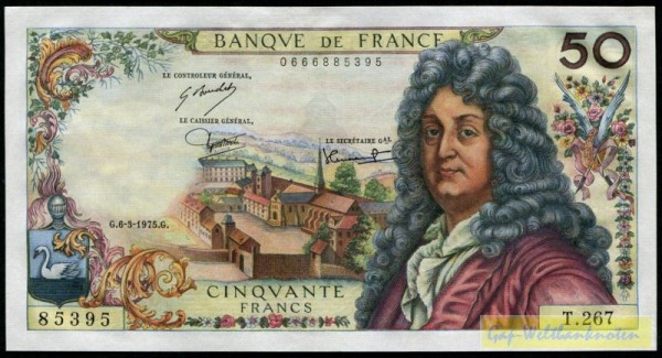 Strohl/Bouchet/Tronche - (Sie sehen ein Musterbild, nicht die angebotene Banknote)
