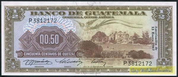 13.1.67 - (Sie sehen ein Musterbild, nicht die angebotene Banknote)