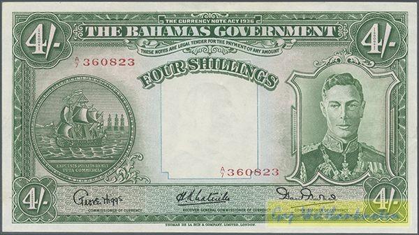 UT links: Commissioner of Currency, Grf. s. III - (Sie sehen ein Musterbild, nicht die angebotene Banknote)