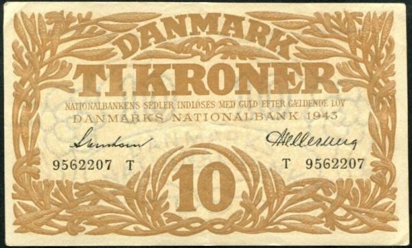 1943T - (Sie sehen ein Musterbild, nicht die angebotene Banknote)
