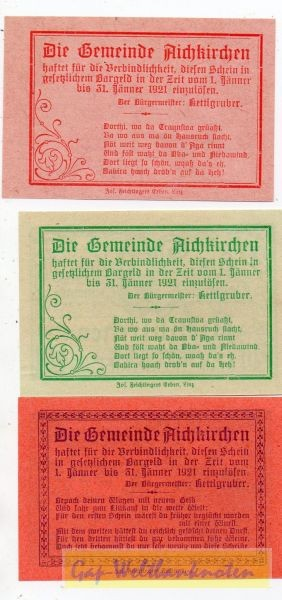 10, 20, 50h, oD 50h 1920-31. 1. 1921 - (Sie sehen ein Musterbild, nicht die angebotene Banknote)