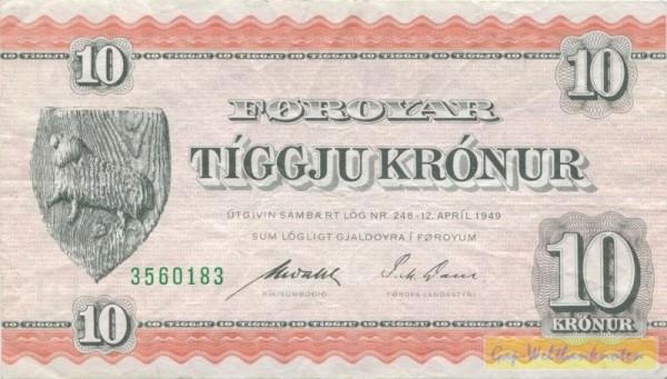 1949, Us. Wahl/P.M.Dam - (Sie sehen ein Musterbild, nicht die angebotene Banknote)