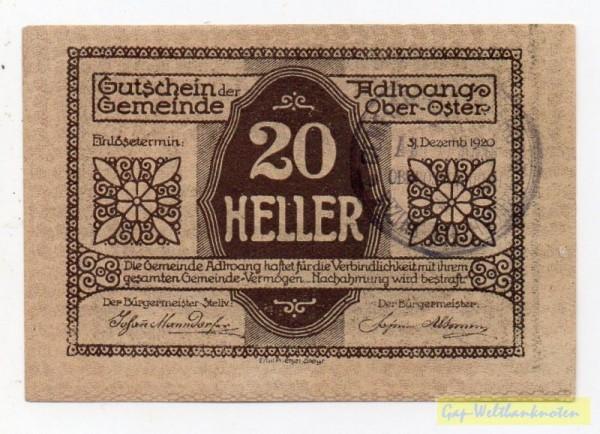 Vs. Udr 2, Rs Udr 1, GSt 29mm - (Sie sehen ein Musterbild, nicht die angebotene Banknote)