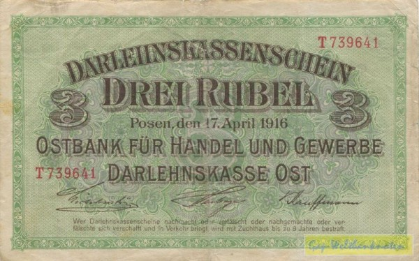 astoņi - (Sie sehen ein Musterbild, nicht die angebotene Banknote)